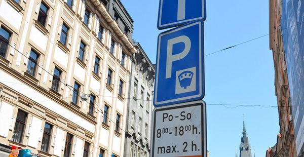 Парковка в Праге. Чехии